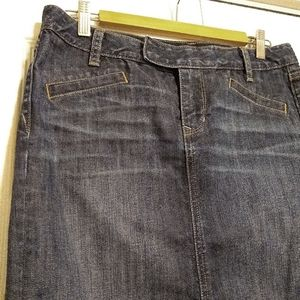 Gap Limited Edition Dark Wash Jean Mini Skirt - 6